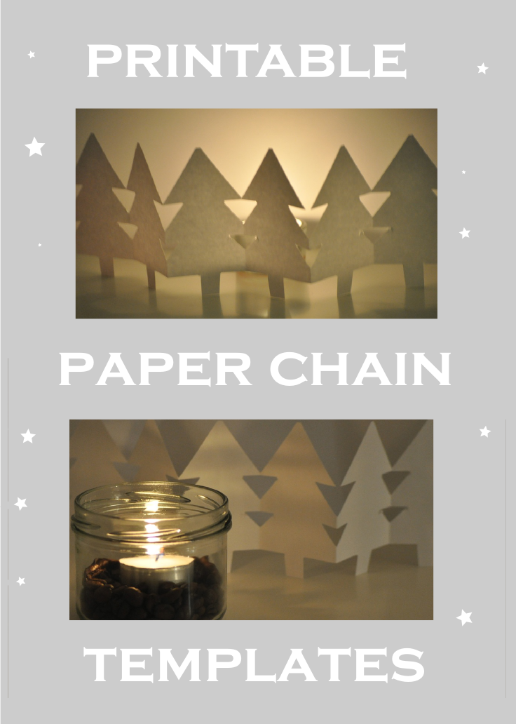 Free printable holiday paper chain template link vorlage for Snowman paper chain template