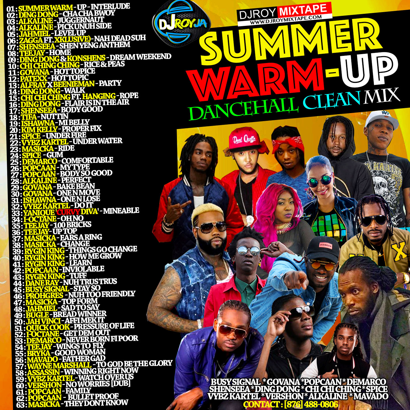 DJROYMIXTAPE : DJ ROY SUMMER WARM-UP DANCEHALL CLEAN MIX [JUNE 2018]