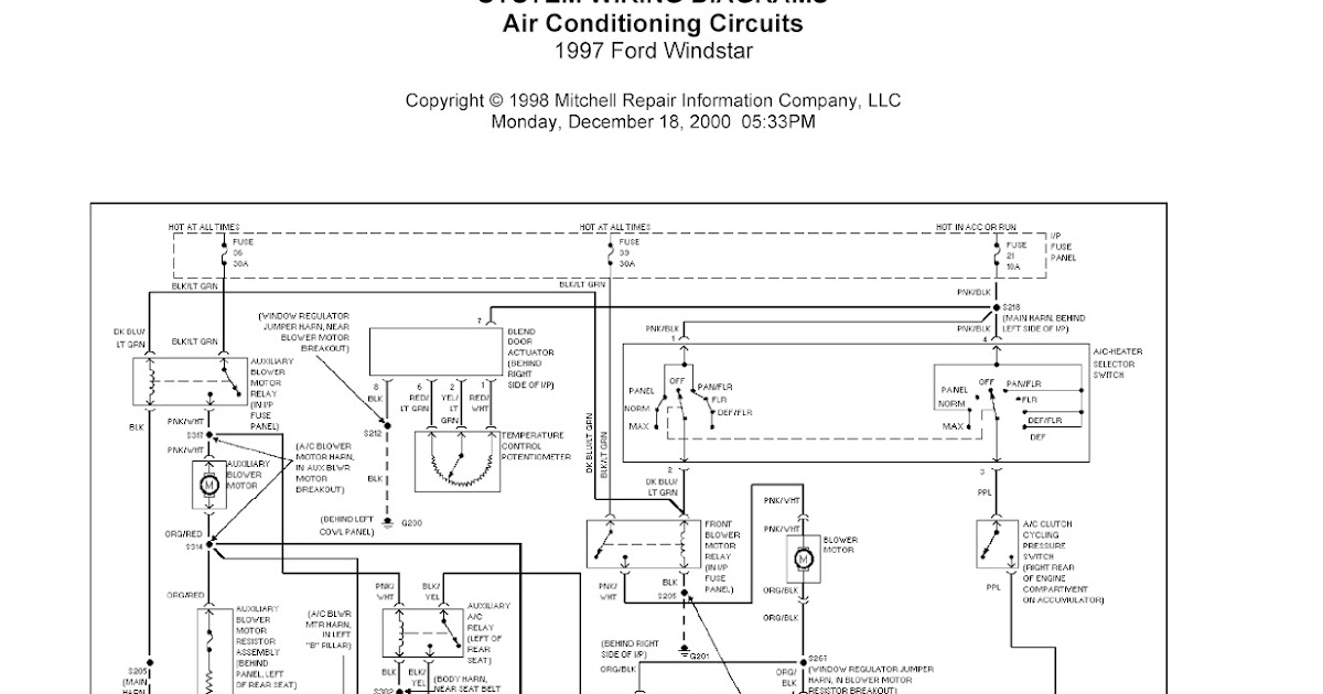1999 ford windstar wiring diagrams 1999 ford f150 wiring diagrams 1997 ford windstar complete system wiring diagrams ...