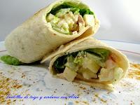 Tortillas de trigo con verduras y atún