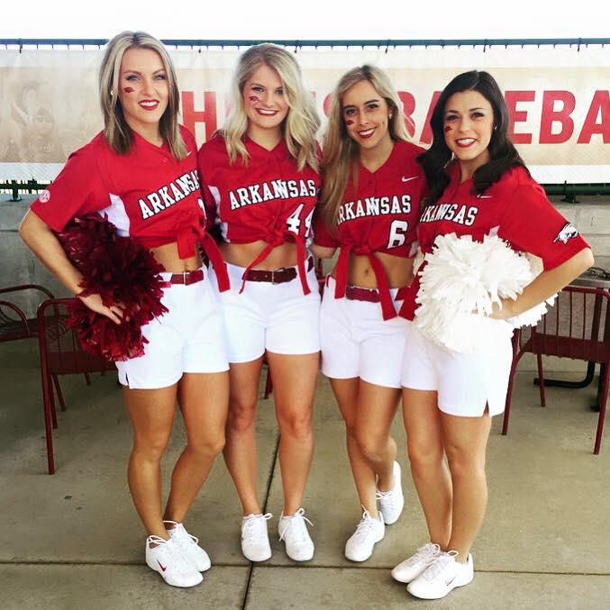 Image result for university of arkansas cheerleaders
