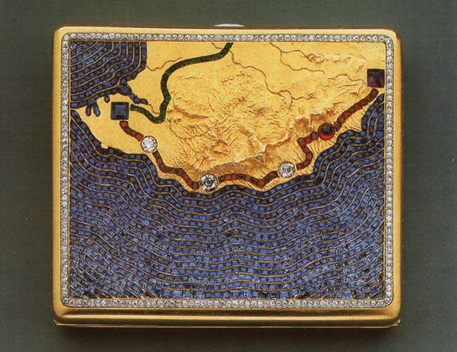 Карл Фаберже изобразил Южный берег на уникальном портсигаре