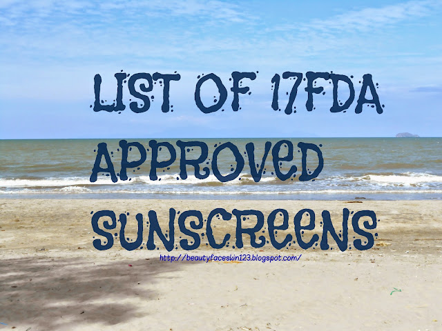 LIST OF FDA APPROVED SUNSCREENS