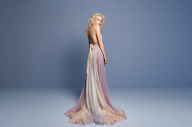 K'Mich Weddings - wedding planning - ombre halter tulle dress - Daalarna Collection