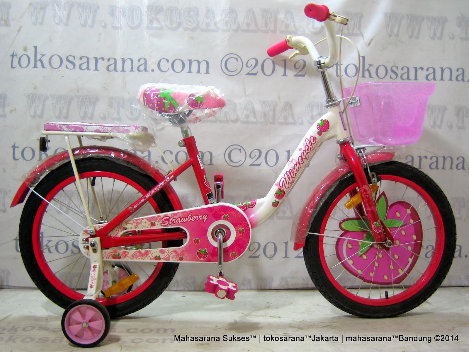 Sepeda Anak WIMCYCLE MINI STRAWBERRY 18 Inci