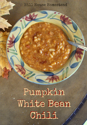 the recipe of Pumpkin White Bean Chili