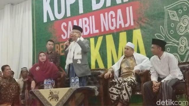 Ma'ruf Amin: Saya dan Jokowi Harus Menang, Kalau Tak Menang Innalillahi