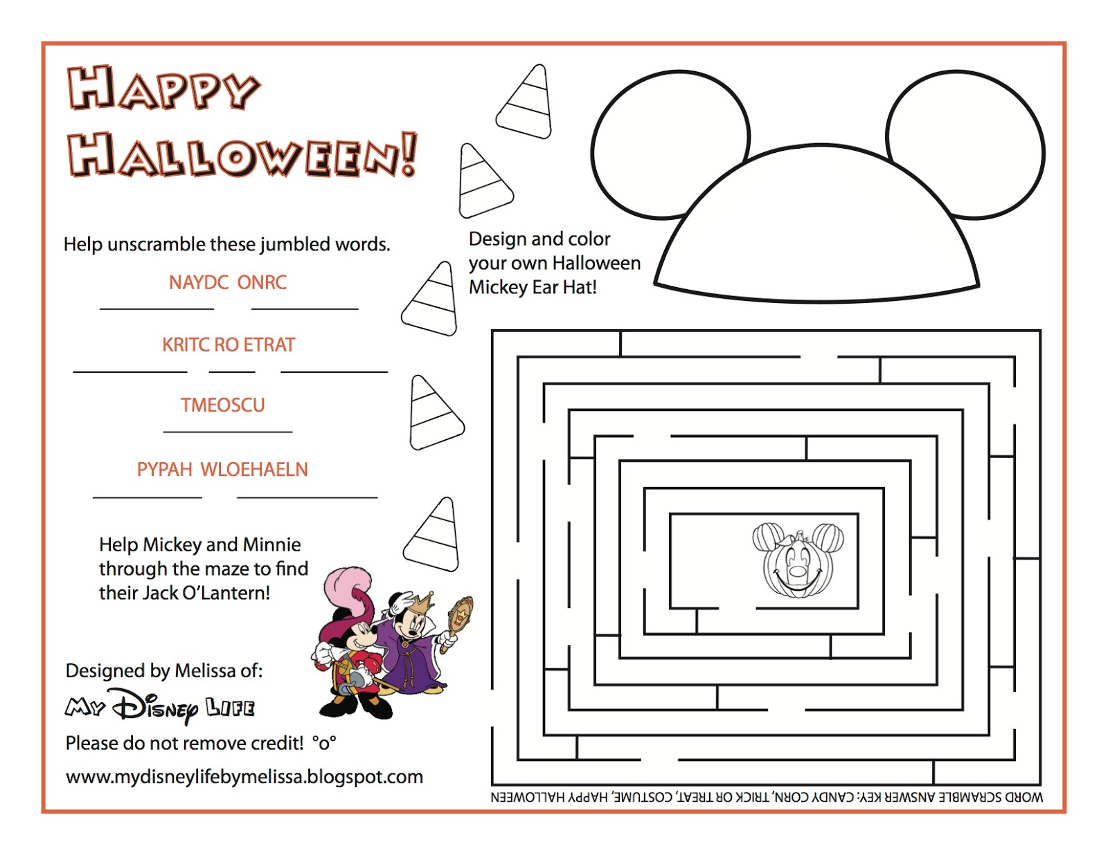 My Disney Life Free Halloween Printables