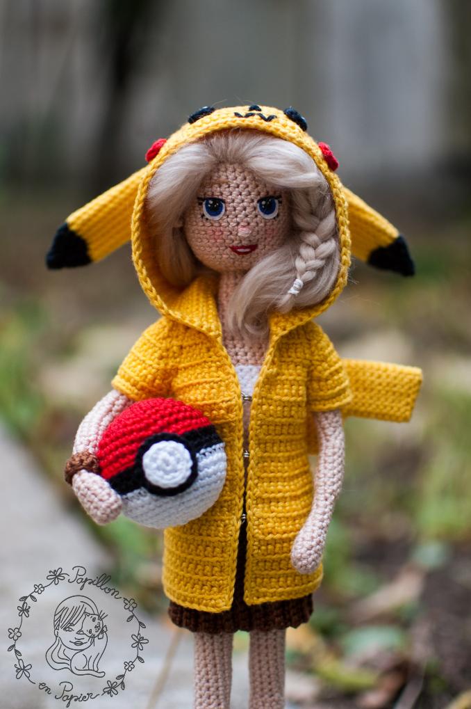 Papillon En Papier Pikachu Girl Free Crochet Doll Pattern