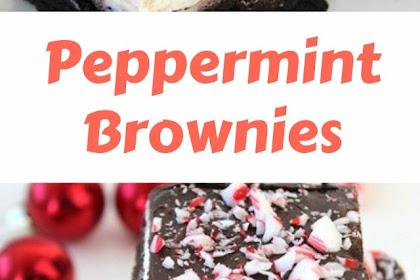 Peppermint Brownies #christmas #brownies