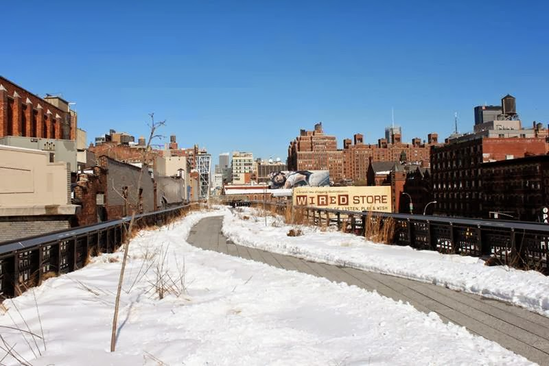 High Line Park, New York in Winter