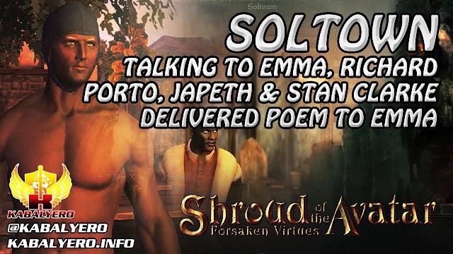 Soltown ★ Talking To Emma, Richard, Porto, Japeth & Stan Clarke ★ Shroud of the Avatar Gameplay 2016