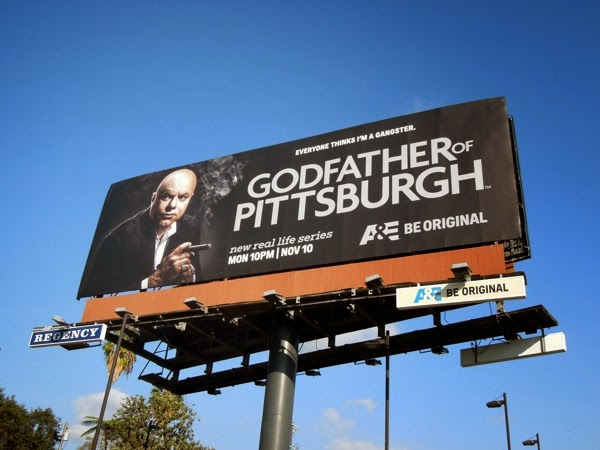 Godfather of Pittsburgh series launch billboard