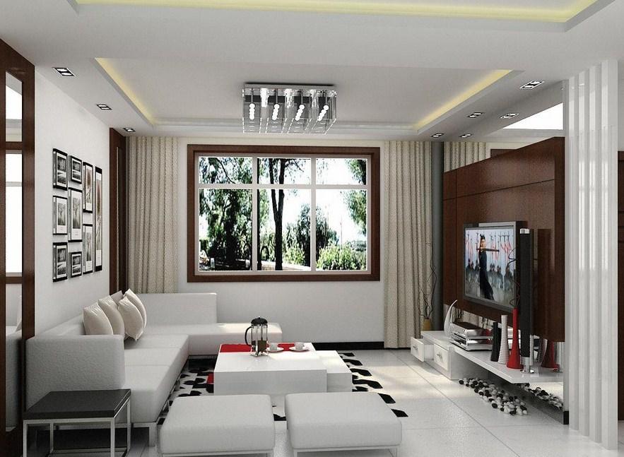 Desain ruang keluarga dari rumah minimalis type 45
