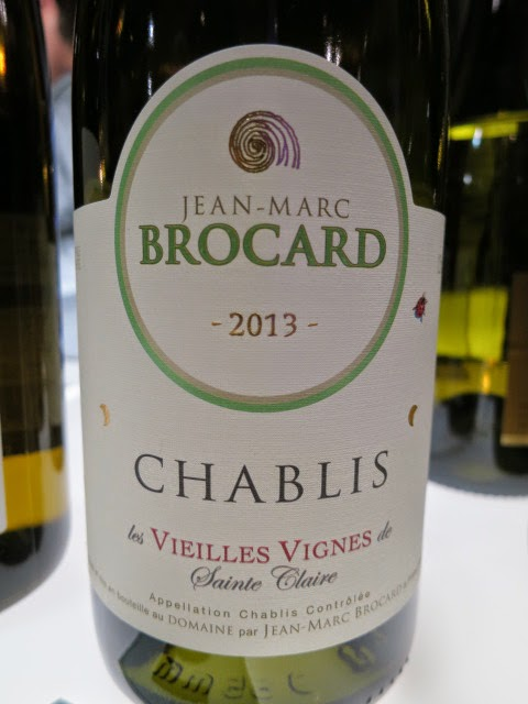 Jean-Marc Brocard Sainte Claire Vieilles Vignes Chablis 2013 from AC, Burgundy, France