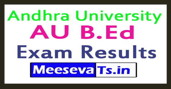 Andhra University AU B.Ed Exam Results 2017