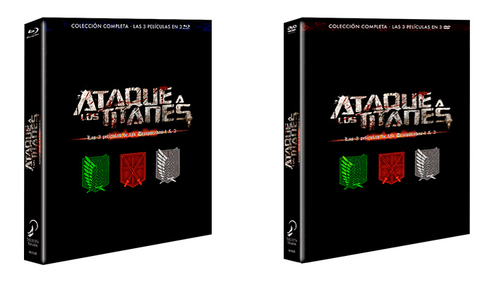 Ataque a los titanes: Las peliculas temporadas 1 y 2