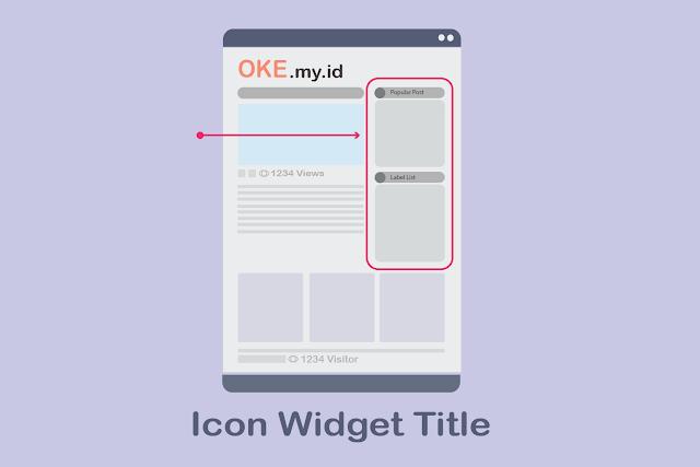 icon widget title
