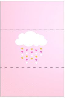 Blesing Rain for Girls Free Printable  Labels.