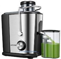 Logo Amazon: Centrifuga e estrattore frutta e verdura in acciaio inox a soli € 26,99 anziché € 49,99 sconto 46%