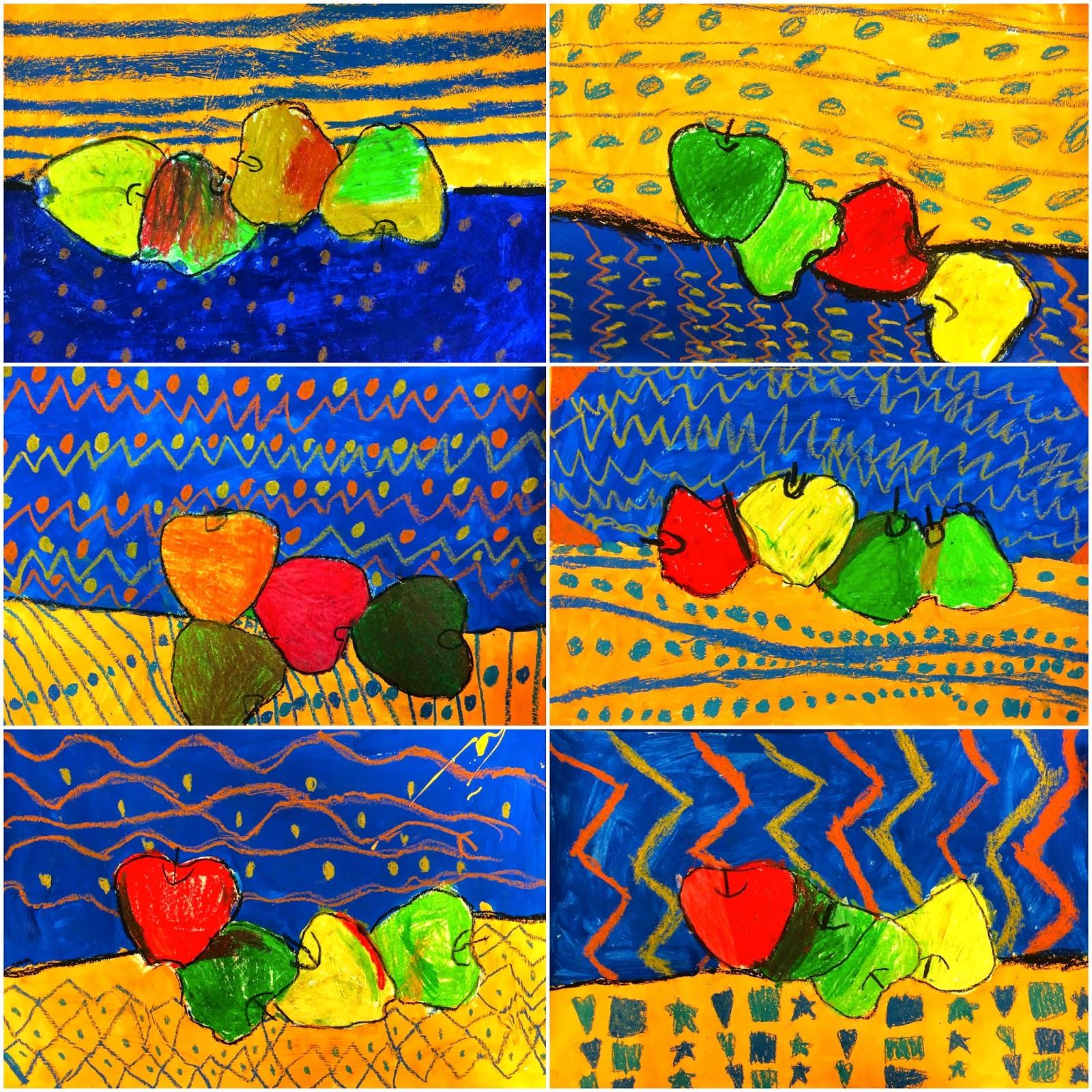 Art Eat Tie Dye Repeat 1st Grade Paul Cezanne Apple