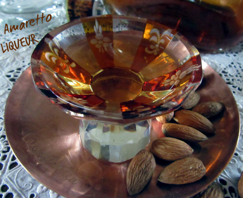 Amaretto liqueur by Laka kuharica: homemade Amaretto is so much better than store bought.