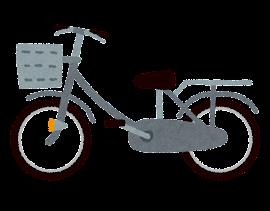 自転車のイラスト「グレー」