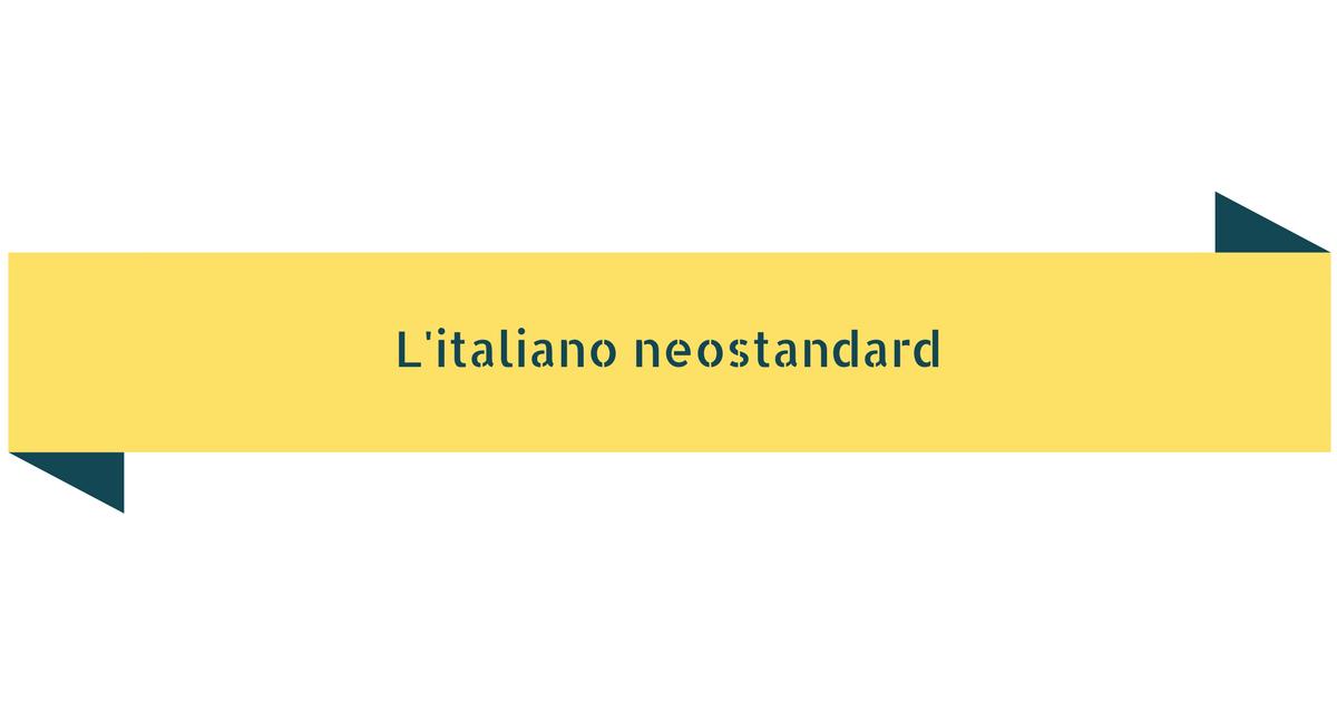 Italiano neostandard