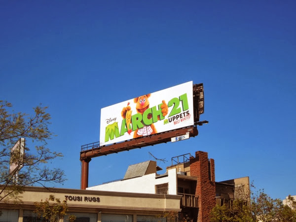 Fozzie Bear Muppets Most Wanted billboard