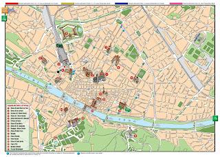 Mapa de Florencia.