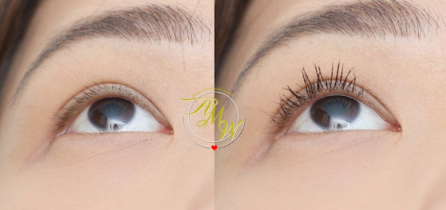 before and after photo of Revlon Ultimate All-In-One Mascara