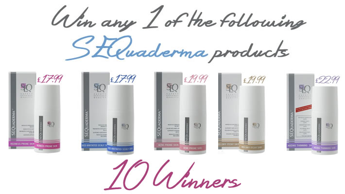 Win a SEQuaderma product of your choice