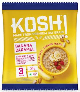 KOSH - Banana Caramel -Sweet Instant Oats