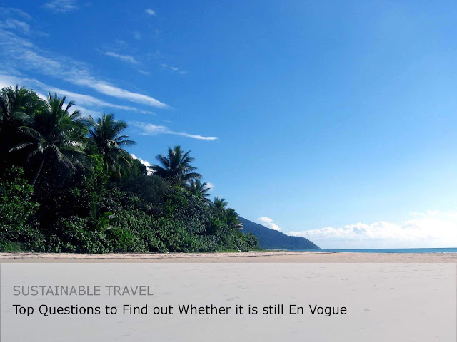 Sustainable travel thoughts, beach, australia, cape tribulation.