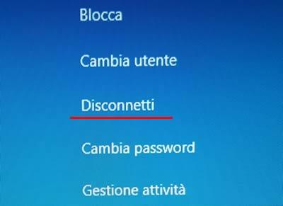 Come disconnettersi da Windows 10