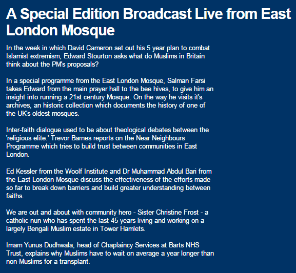 Is The BBC Biased?: Live From The East London Mosque