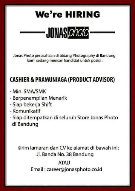 Loker Jonas Photo Bandung