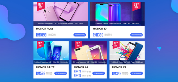 11.11 Honor Brand Day Sales Discount