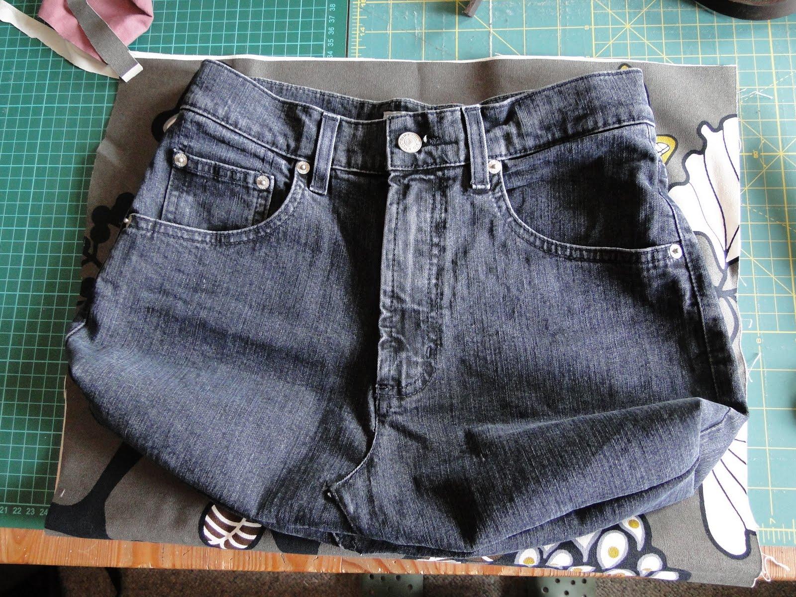 tinistaschen tasche aus alter jeans tutorial. Black Bedroom Furniture Sets. Home Design Ideas