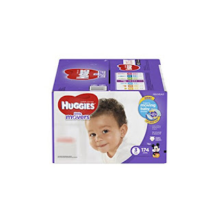 174 Count  With A DryTouch Liner Huggies Little Movers Diapers Size 3