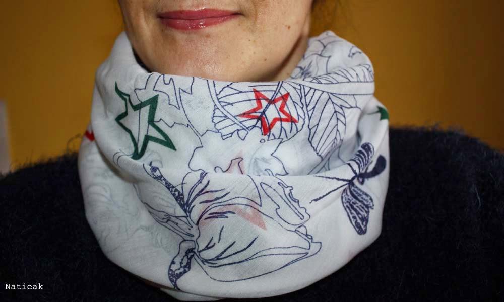 foulard Blue butterfly de Sasha berry