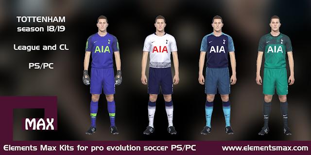 Tottenham 18/19 pes kits