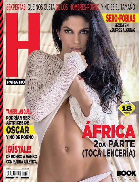 Africa Zavala Revista H para Hombres Enero 2017