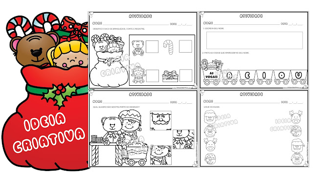 Atividades Discriminação visual e linguagem para imprimir Educação Infantil