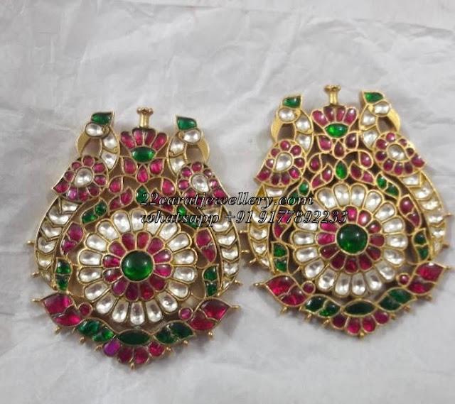 Heavy Trendy Silver Kundan Pendants