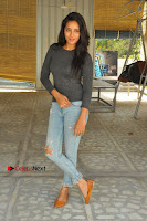 Actress Bhanu Tripathri Pos in Ripped Jeans at Iddari Madhya 18 Movie Pressmeet  0067.JPG