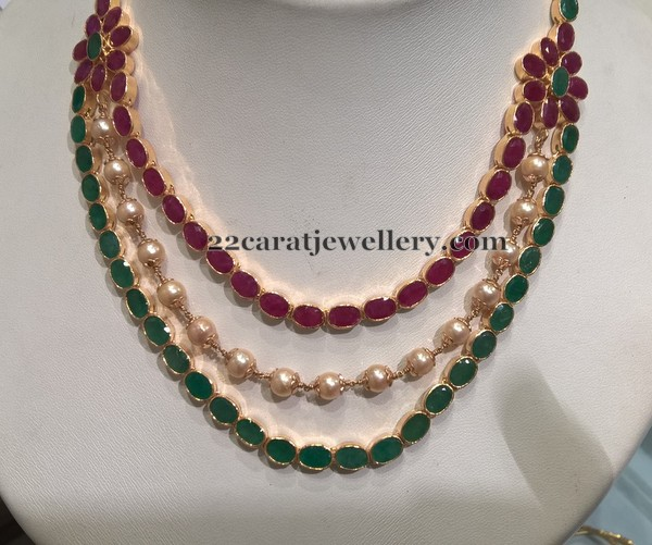 3 Line Neck Choker Jewellery Designs