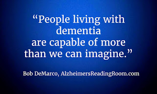 Relationships need to change when a person is diagnosed with Alzheimer's or dementia