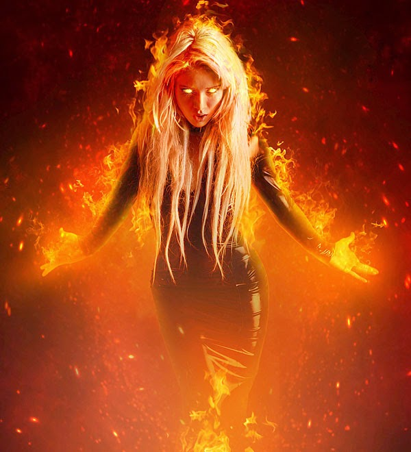 Create a Fantasy Fiery Portrait Photo-Manipulation in Photoshop