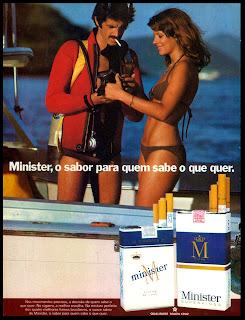 propaganda cigarros Minister - 1976; propaganda anos 70; história decada de 70; reclame anos 70; propaganda cigarros anos 70; Brazil in the 70s; Oswaldo Hernandez;